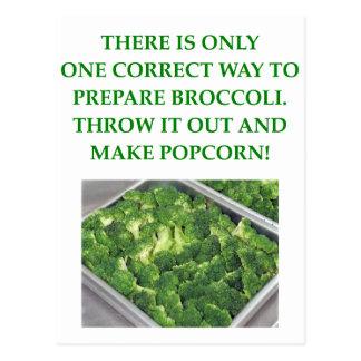 odio el bróculi postal