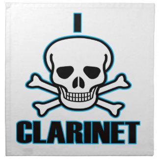 Odio el clarinet. servilleta imprimida