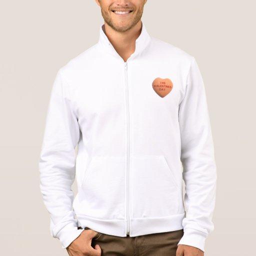 Odio el corazón anaranjado del caramelo del día de chaquetas imprimidas
