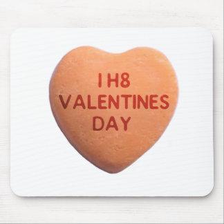 Odio el corazón anaranjado del caramelo del día de tapete de ratones