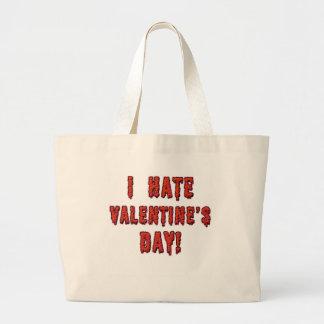 Odio el día de San Valentín Bolsa De Mano