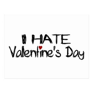 Odio el día de San Valentín Postales