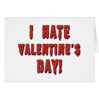 Odio el día de San Valentín Tarjeton
