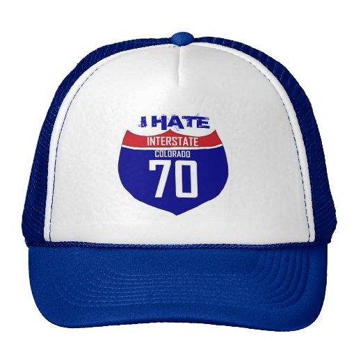 Odio el gorra de la carretera de I70 Colorado