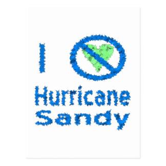 Odio el huracán Sandy rasgada Postales
