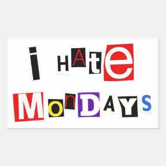 Odio el pegatina de lunes