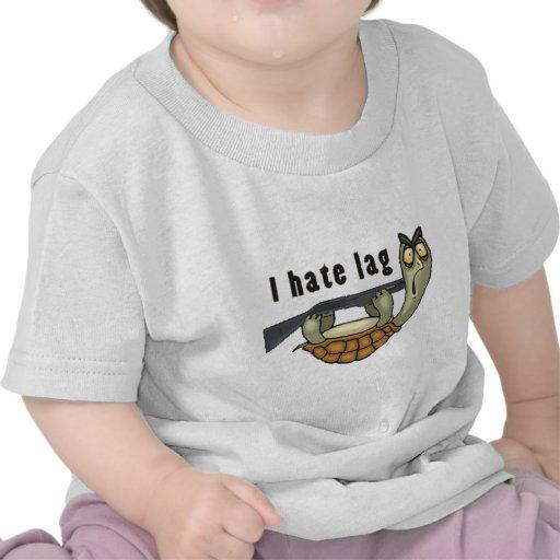 odio el retraso camiseta