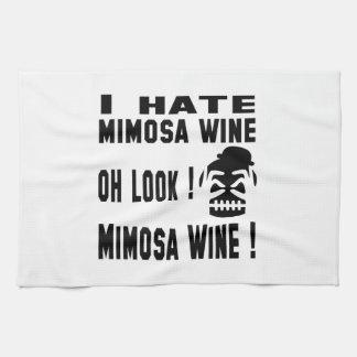 Odio el vino del Mimosa Toalla De Cocina