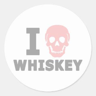 Odio el whisky pegatinas redondas