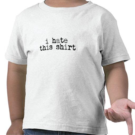 Odio esta camisa - niños