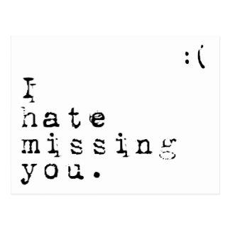 Odio faltar Usted-Pero amo el tener de usted a la Postal