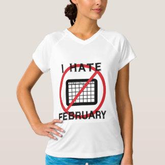 Odio febrero playera
