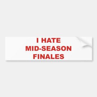 Odio finals de temporada pegatina para auto