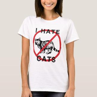 Odio gatos playera