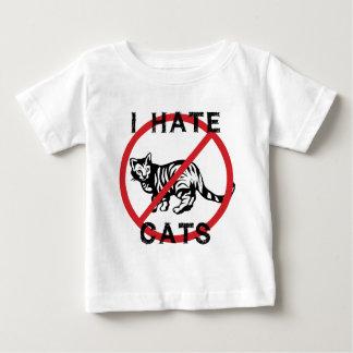 Odio gatos playera de bebé