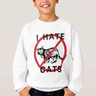 Odio gatos sudadera