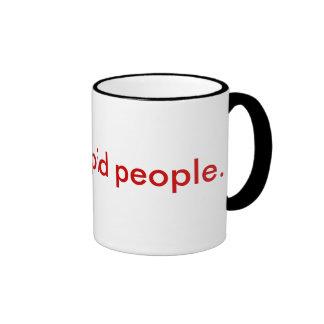Odio gente estúpida taza de dos colores