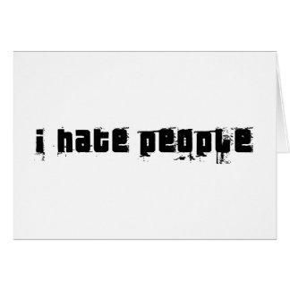 Odio gente tarjetón