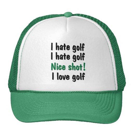 Odio - golf del amor gorra