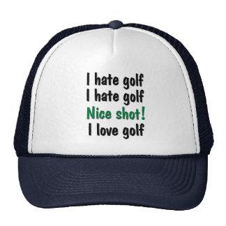Odio - golf del amor gorros