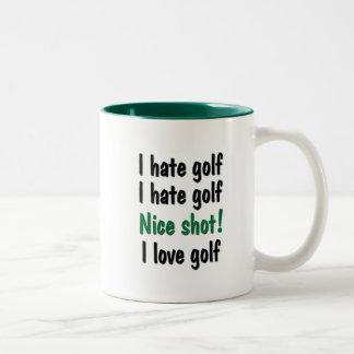 Odio - golf del amor tazas de café