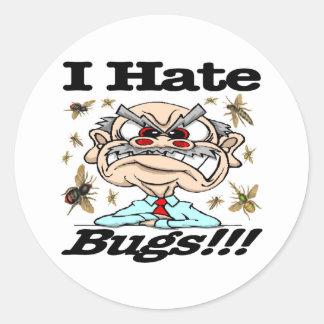 ¡Odio insectos! Pegatinas Redondas