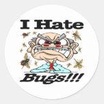 ¡Odio insectos! Pegatina Redonda