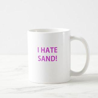 Odio la arena taza clásica