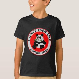 Odio la camiseta china de la comida
