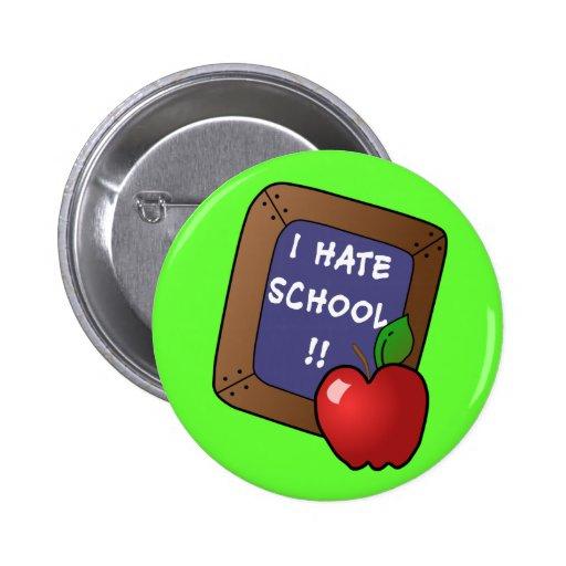 Odio la camiseta de la escuela, caso del iPad, taz Pin