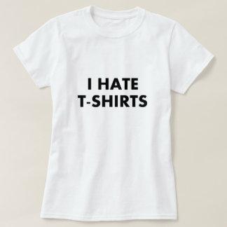 Odio la camiseta de las camisetas (las mujeres) remeras