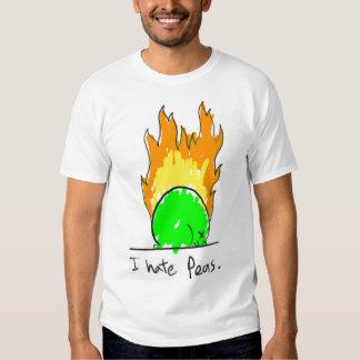 odio la camiseta de los guisantes playeras