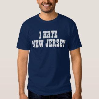 Odio la camiseta de New Jersey Playeras