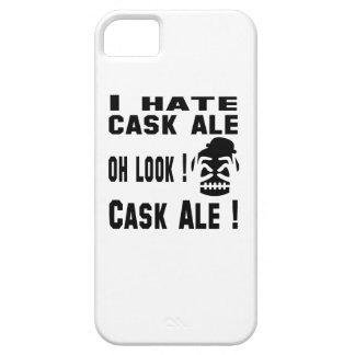 Odio la cerveza inglesa del barril funda para iPhone 5 barely there