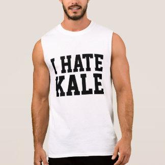 Odio la col rizada camiseta sin mangas