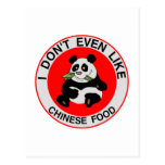 Odio la comida china postal
