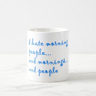 Odio la gente - taza de café divertida