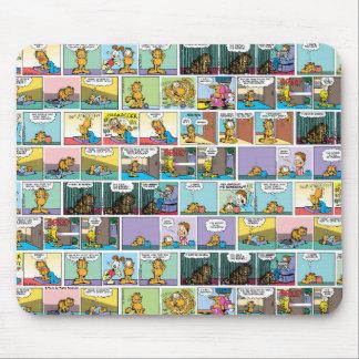"""Odio la historieta de lunes"" Garfield Tapete De Ratones"