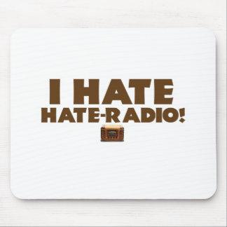 ¡Odio la Odio-radio! Alfombrillas De Ratón