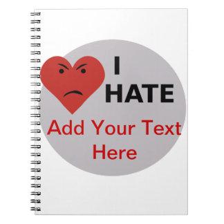Odio… - la plantilla libreta espiral