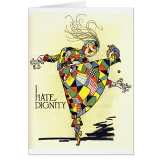 Odio la tarjeta de la dignidad