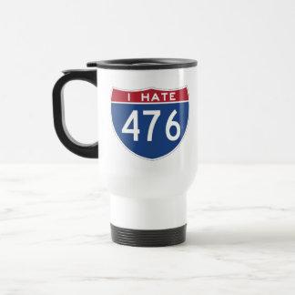 Odio la taza de 476 viajes