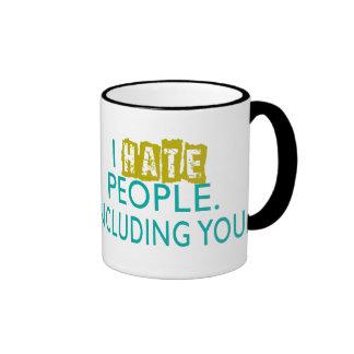 Odio la taza de café de la gente