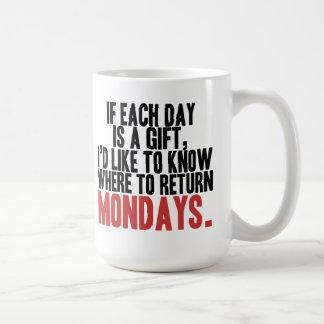 Odio la taza de café de lunes