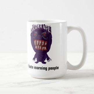 Odio la taza de la mañana del monstruo de la gente
