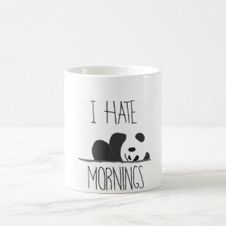 odio la taza de la panda de la mañana
