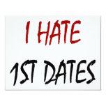 Odio las 1ras fechas invitación 10,8 x 13,9 cm