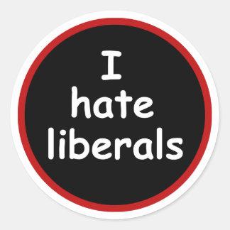 Odio liberales etiquetas redondas