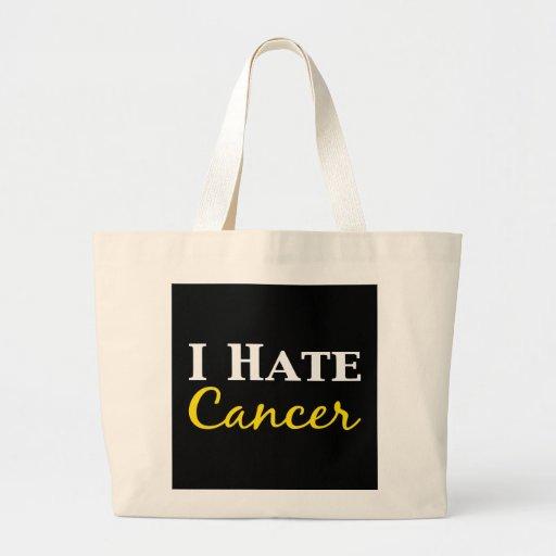 Odio los regalos del cáncer bolsa tela grande