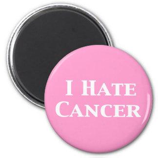 Odio los regalos del cáncer imán redondo 5 cm